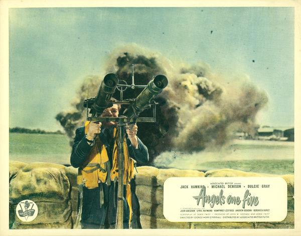 Original front of the house image (lobby card) for the film featuring Jack Hawkins