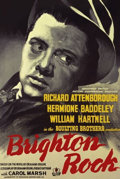 Richard Attenborough as Pinkie Brown in the poster for 'Brighton Rock&#39