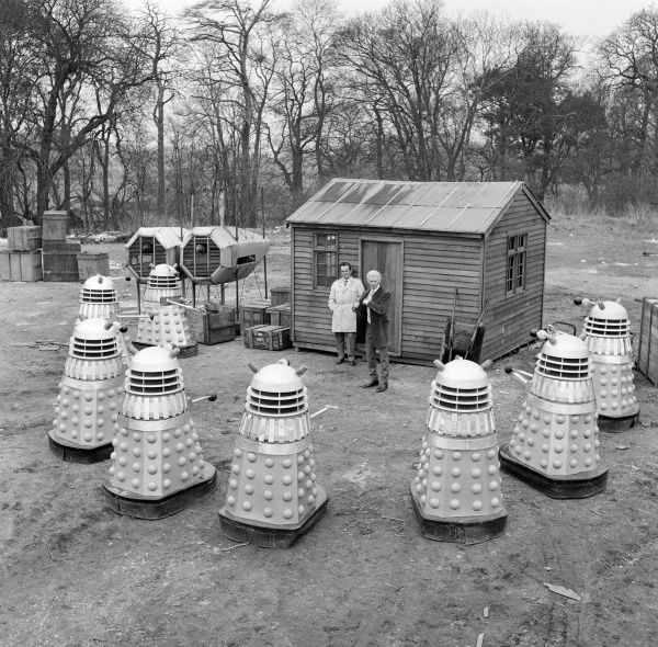 Peter Cushing and The Daleks