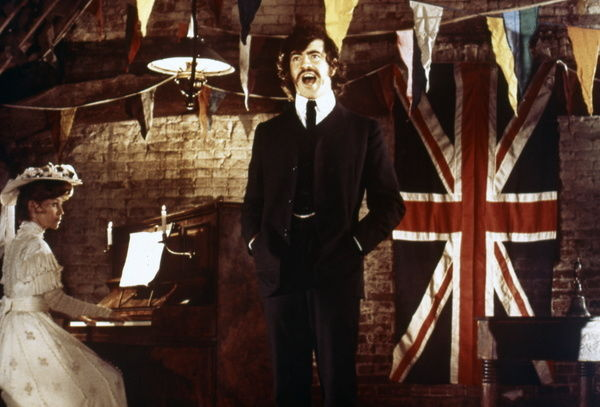 Alan Bates as Ted Burgess sings while Julie Christie as Lady Trimingham plays the piano in Joseph Losey's The Go-Between