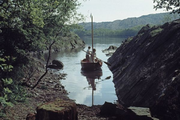 The Boat Swallow in the hidden harbour from Swallows and Amazons