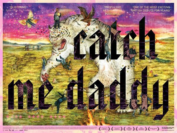 The striking poster artwork for the release of Daniel and Matthew Wolfe's Catch Me Daddy