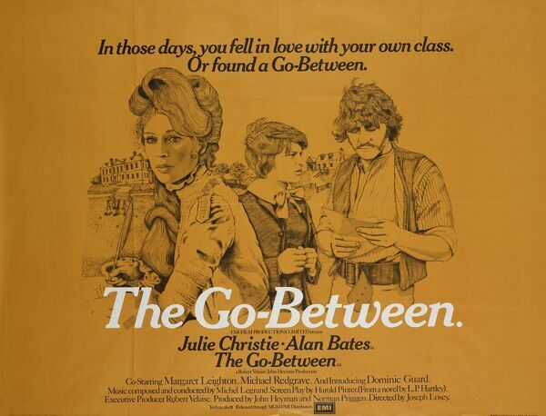 Original poster artwork for the UK theatrical release of Joseph Losey's 'The Go-Between' with Julie Christie and Alan Bates and based on LP Hartley's novel