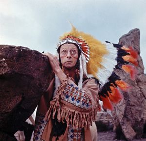 Charles Hawtrey in a scene from Carry On Cowboy