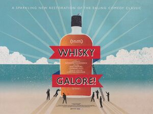 Theatrical re-issue poster for Whisky Galore! (1949)