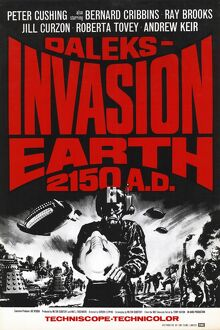 UK One Sheet poster for Daleks Invasion Earth 2150 AD (1966)