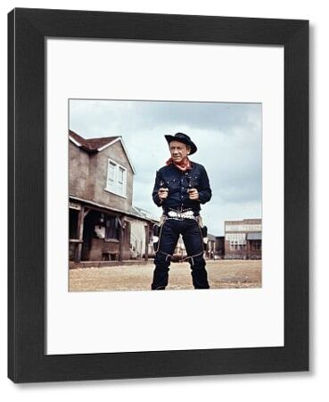 Sid James as The Rumpo Kid in a production still from Carry On Cowboy