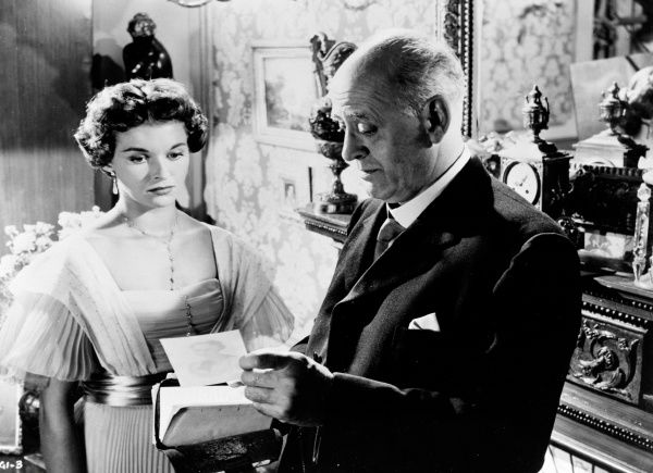 Alastair Sim and Eileen Moore in a scene from An Inspector Calls (1954)