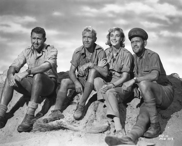 A portrait of the main cast for the WW2 drama Ice Cold in Alex directed by Jack Lee Thompson in 1958
