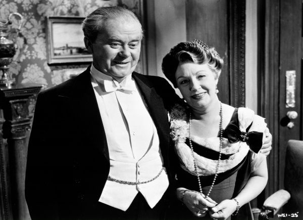 Arthur Young and Olga Lindo in a scene from An Inspector Calls (1954)