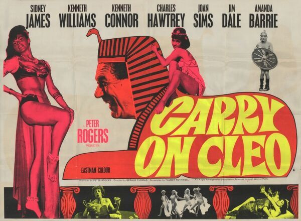 Carry On Cleo. Alternative poster artwork for the release of Peter Rogers' production