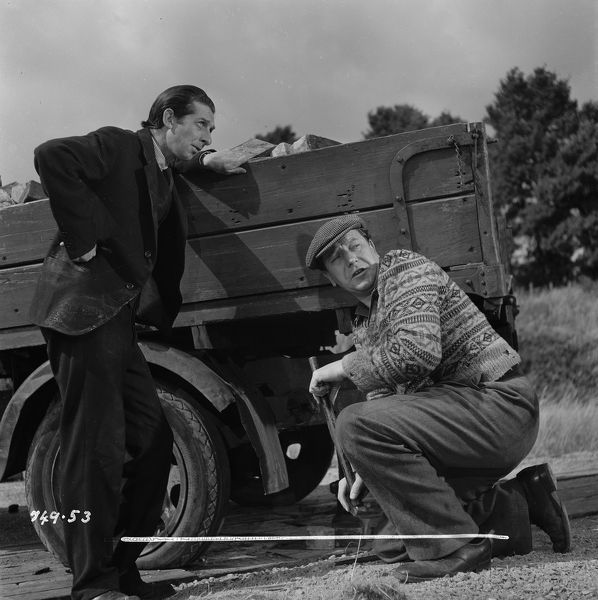 Crump and Pearce. Ewan Roberts and Jack MacGowran in a scene from The Titfield Thunderbolt