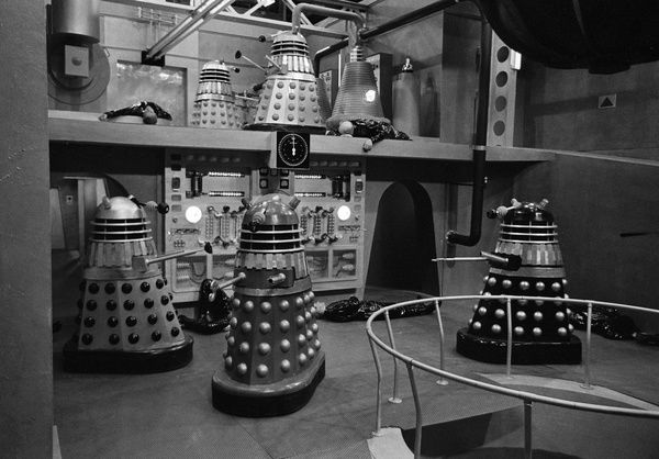 Inside the Daleks' spaceship