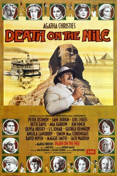 UK One Sheet poster for Death on The Nile
