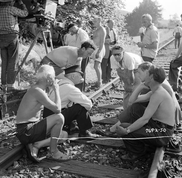 during a pause from the filming of The Titfield Thunderbolt