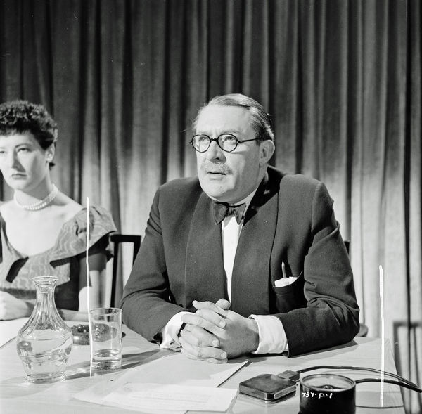 Gilbert Harding in his appearance in Meet Mr. Lucifer (1953)