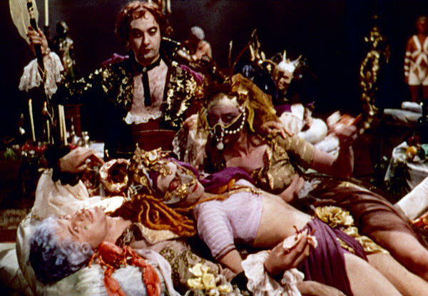 A group shot from the film Tales of Hoffmann
