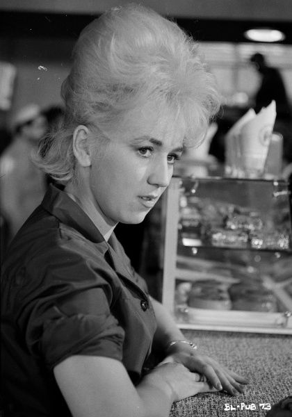 Gwendolyn Watts who played Rita during a scene from Billy Liar (1963) directed by John Schlesinger and based on a play and novel by Keith Waterhouse and Willis Hall