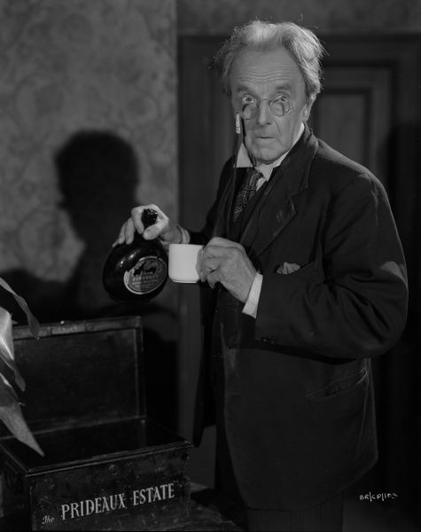 Harcourt Williams as Prewitt in a portrait for John Boulting's thriller