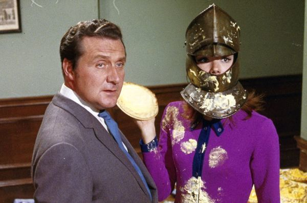 Steed and Mrs Peel in a strange kind of fight