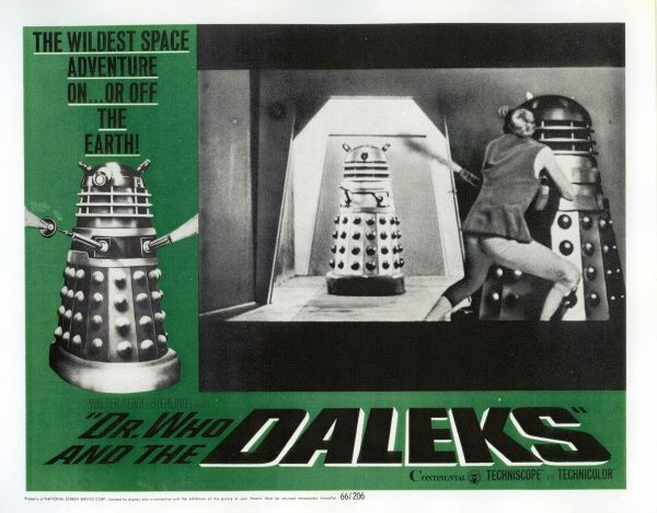 Lobby card picture for Gordon Flemyng's Dr. Who and The Daleks featuring Peter Cushing, Roberta Tovey and Roy Castle