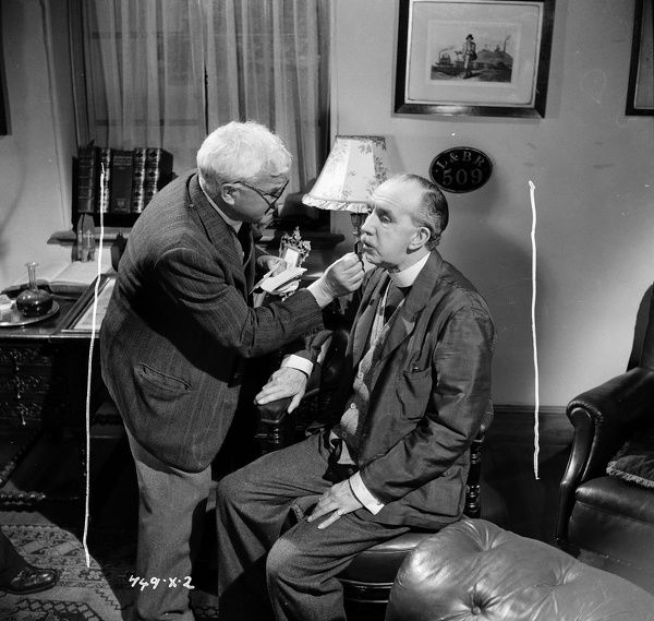 Harry Frampton and George Relph during filming