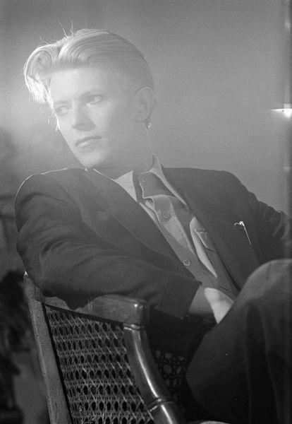 David Bowie in a production shot for The Man Who Fell To Earth
