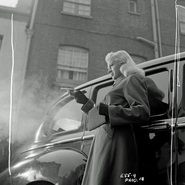 Diana Dors in a scene from Yield to the Night, the film was entitle Blonde Sinner in the USA