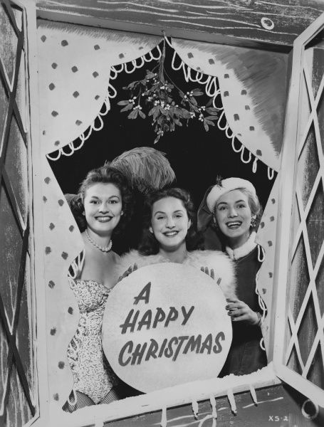 An Happy Christmas greeting card image from a publicity shoot taken at ABPC Elstree Studios