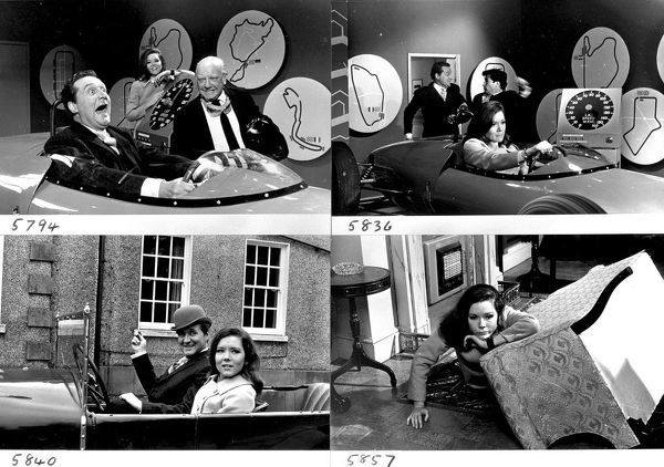 A montage of images. to promote The Avengers' episode Dead Man's Treasure