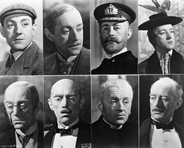 featuring the eight characterrs played by Alec Guinness in the Robert Hamer black comedy