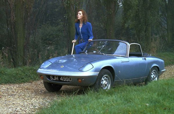 Mrs. Peel and her Lotus Elan