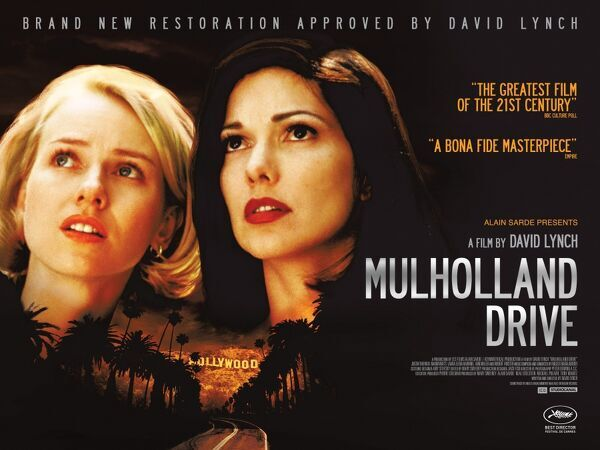 UK Quad poster artwork for the 2017 re-release of the film directed in 2001 by David Lynch