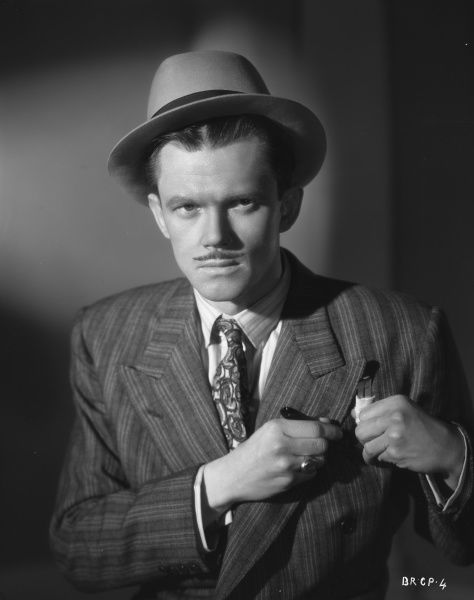 A portrait of Nigel Stock as Cubitt the perfect gangster cum spiv for John Boulting's Brighton Rock (1947)