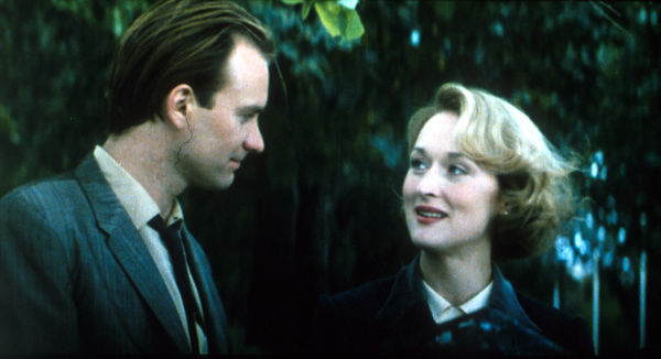 Sting as Mick and Meryl Streep as Susanne Straherne in a scene in exteriors from Fred Schepisi's post WW2 drama Plenty (1985)