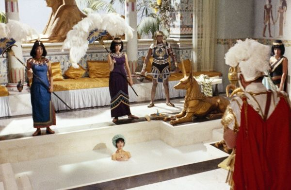 Amanda Barrie as Cleopatra takes a milky bath during Gerald Thomas' Carry On Cleo (1965)