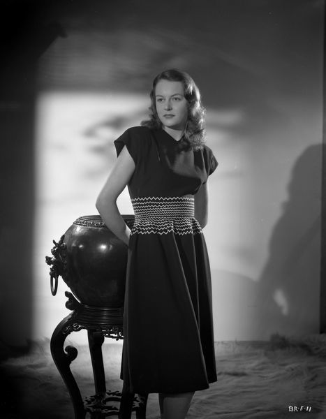 Carol Marsh poses for a fashion shoot to promote the release of Brighton Rock in 1947 where she played the role of Rose