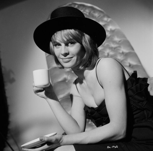 A publicity shot of Julie Christie with an hat taken to promote the UK release of John Schlesinger's Billy Liar (1963)