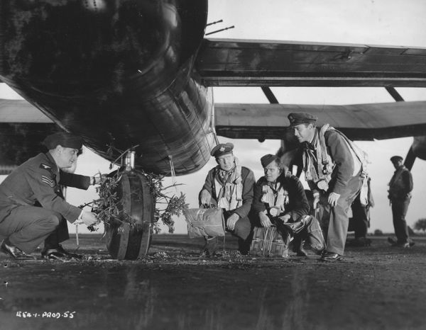 a moment behind the scenes of the filming of The Dam Busters in the Summer of 1954