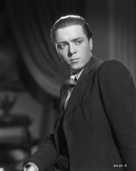 An intense portrait of Richard Attenborough in character as Pinkie to promote the release of John Boulting's thriller based on Graham Greene's novel