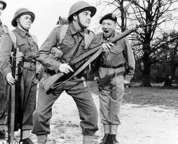 William Hartnell and Bob Monkhouse in Carry On Sergeant (1958)