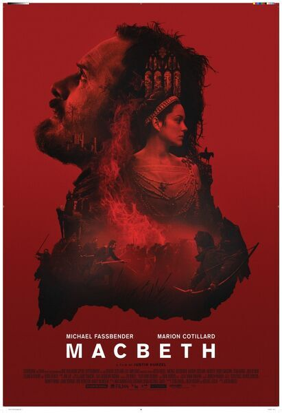 Red version of the UK One Sheet poster artwork for the release of Justin Kurzel's Macbeth (2015) with Michael Fassbender and Marion Cotillard