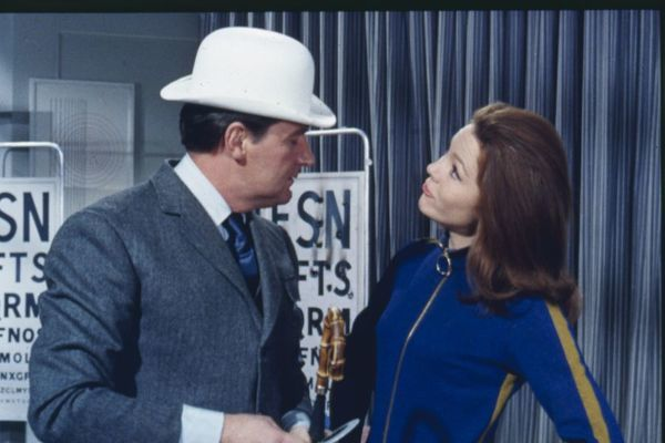Steed and Mrs Peel. in the episode From Venus With Love Series 5