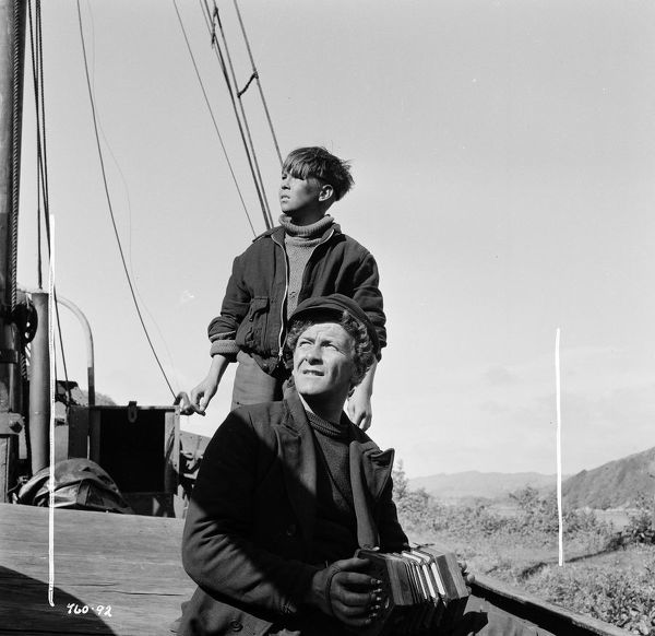 in a scene from The Maggie (1954)