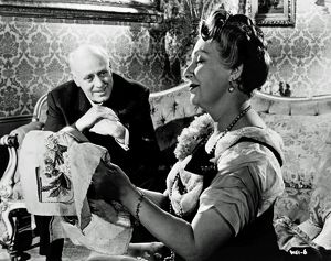 Alastair Sim and Olga Lindo in a scene from An Inspector Calls (1954)