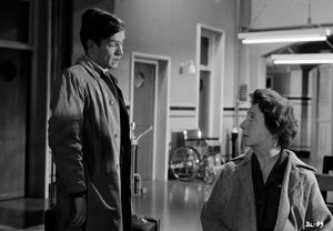 Billy Fisher and his mum in a scene from Billy Liar (1963)
