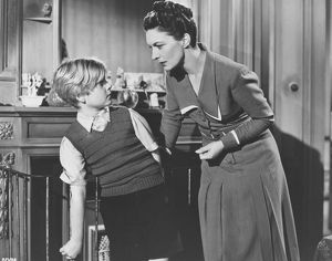 Bobby Henrey and Sonia Dresdel in a scene from The Fallen Idol (1948)