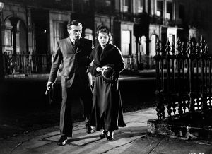 Brian Worth and Jane Wenham in a scene from An Inspector Calls (1954)