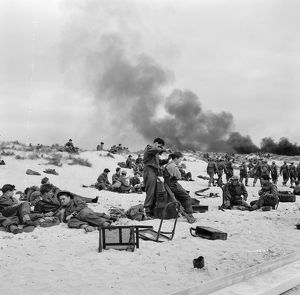 British Soldiers on the beach