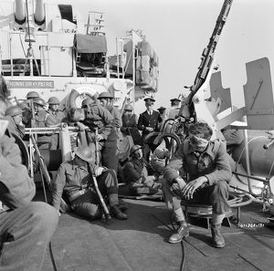 British soldiers on board